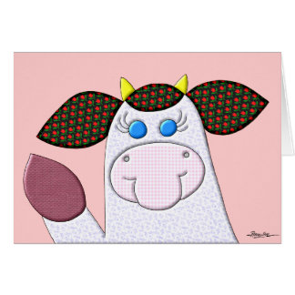 Holly Cow No Verse Inside Greeting Card