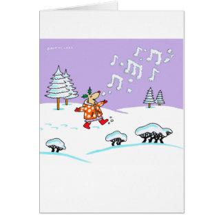 Holly Deer in full song Xmas card