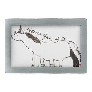 Holly-Dolly's Dream Rectangular Belt Buckle