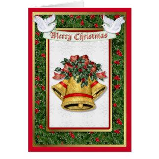 Holly Dove Christmas Card