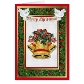 Holly Dove Christmas Greeting Card