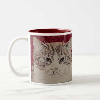 Holly Face Painting Two-Tone Coffee Mug