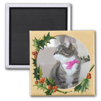Holly Fame 2 Inch Square Magnet