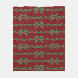 Holly Fleece Blanket
