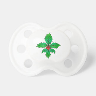 Holly Fleur de lis gifts Baby Pacifiers