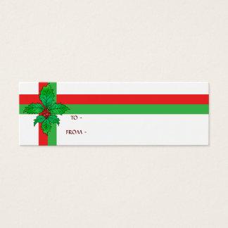 Holly Fleur de lis Mini Business Card