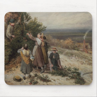 Holly Gatherers (w/c and bodycolour) Mouse Mat