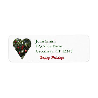 Holly Heart Avery Label Return Address Label