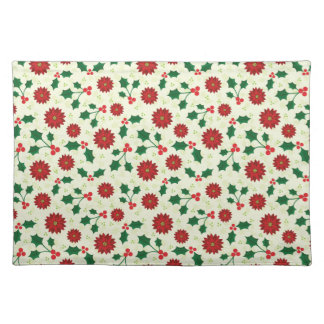 Holly Holiday cloth placemats