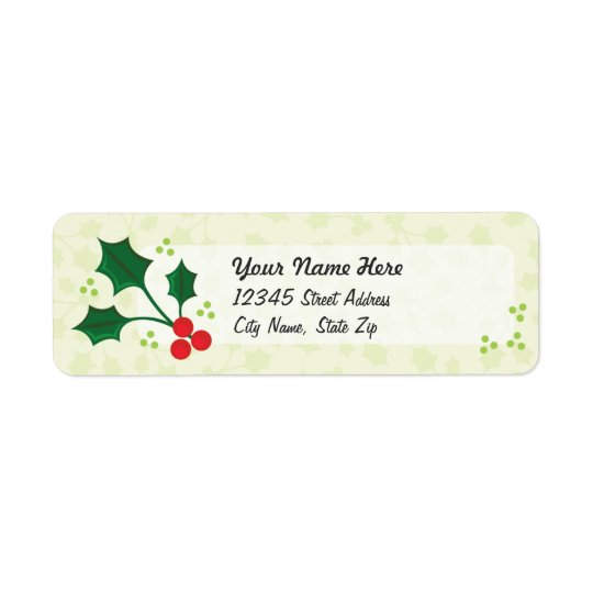 Holly Holiday return address labels