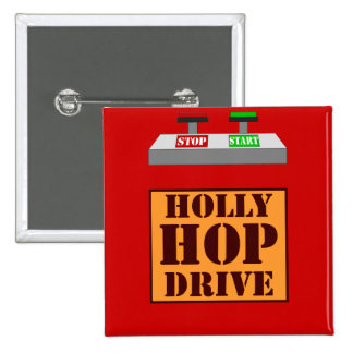 Holly Hop Drive 15 Cm Square Badge