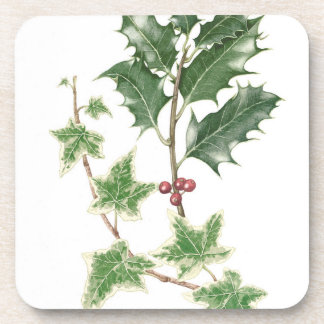 Holly & Ivy Botanical Watercolour Coasters