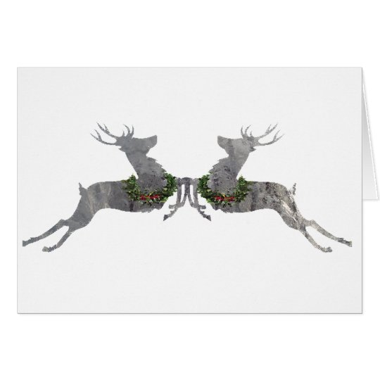 Holly & Ivy Reindeer Card