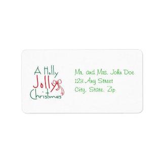 Holly Jolly Christmas Address Label