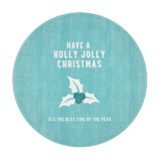 Holly Jolly Christmas | Blue Cutting Boards
