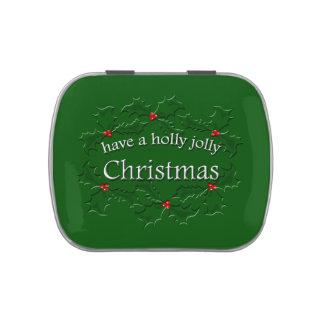 Holly Jolly Christmas Candy Tin