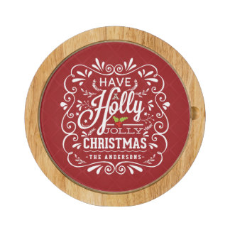 Holly Jolly Christmas Chalkboard Holiday Party Red