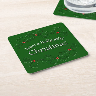 Holly Jolly Christmas Coaster