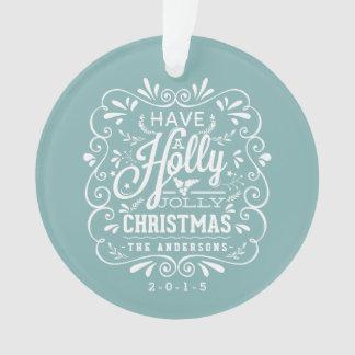 Holly Jolly Christmas Fancy Chalk Art Photo