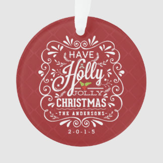 Holly Jolly Christmas Fancy Chalkboard Photo