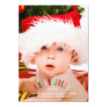 Holly Jolly Christmas Full Page Photo Card Personalized Announcements