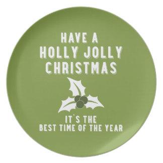 Holly Jolly Christmas | Green Plates