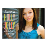 HOLLY JOLLY CHRISTMAS | HOLIDAY GREETING CARD PERSONALIZED ANNOUNCEMENTS