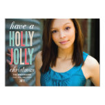 HOLLY JOLLY CHRISTMAS | HOLIDAY GREETING CARD PERSONALIZED ANNOUNCEMENT