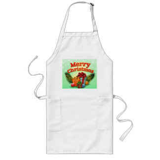 Holly Jolly Christmas Long Apron