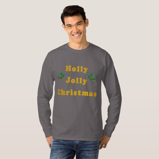 Holly Jolly Christmas Men's Long-Sleeved T-Shirt