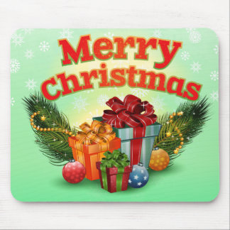 Holly Jolly Christmas Mouse Pad