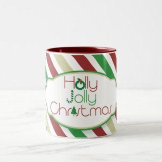 Holly Jolly Christmas mug - red inside