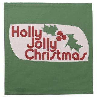Holly Jolly Christmas Cloth Napkins