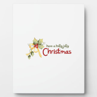 HOLLY JOLLY CHRISTMAS PHOTO PLAQUE