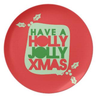 Holly Jolly Christmas Plates