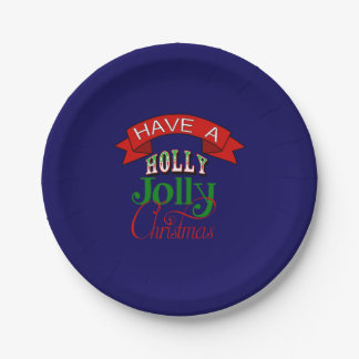 Holly Jolly Christmas Plate