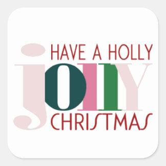 HOLLY JOLLY CHRISTMAS Sticker