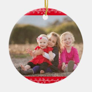 Holly Jolly Custom Christmas Photo Ornament