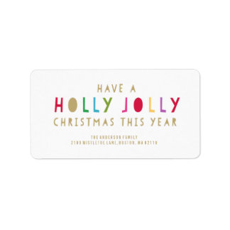 Holly Jolly | Holiday Address Labels
