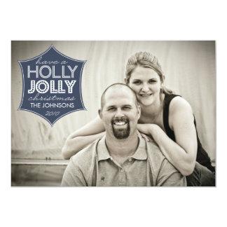"""Holly Jolly Holiday Photo Card 5"""" X 7"""" Invitation Card"""