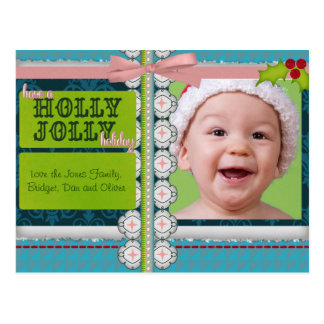 Holly Jolly Holiday Scrapbook Cards Postcard