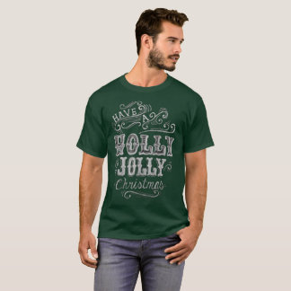 Holly Jolly Merry Christmas Vintage Holiday T-Shirt