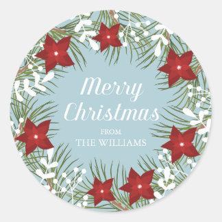 Holly Jolly Poinsettia -  Christmas Sticker