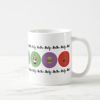 holly!jolly! polka coffee mug