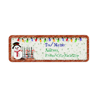 Holly Jolly Snowman  GIFT ADDRESS