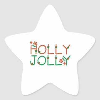 Holly Jolly Star Sticker