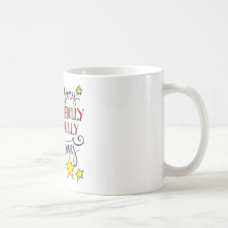 Holly Jolly Very Merry Christmas Basic White Mug