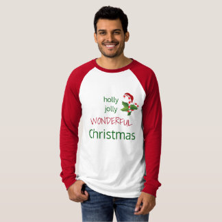 Holly Jolly Wonderful Christmas Candy Cane T-Shirt