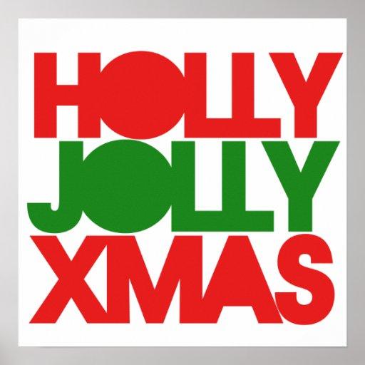 Holly Jolly XMAS Christmas Poster