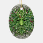 Holly King Greenman Yule or Christmas ornament